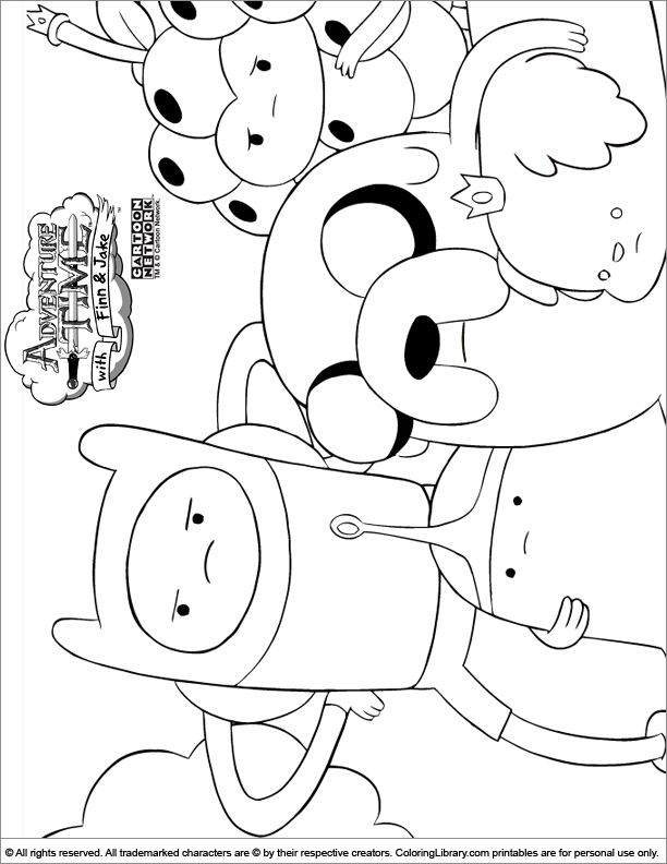 coloring pages of adventure time - photo#19