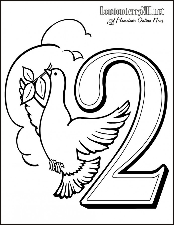 christmas coloring pages 12 days - photo#29