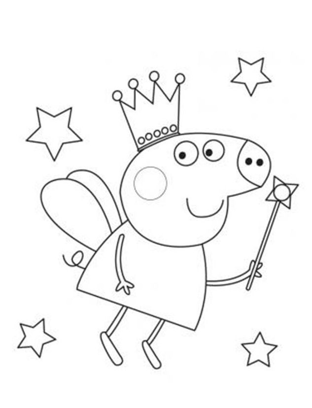 peppa pig drawing templates - how to draw peppa pig coloring home
