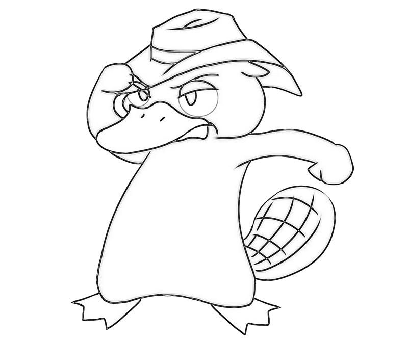 free platypus coloring pages - photo#14