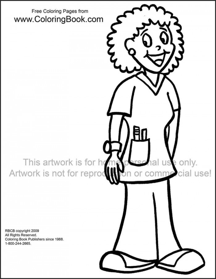 child nurse coloring pages - photo#23