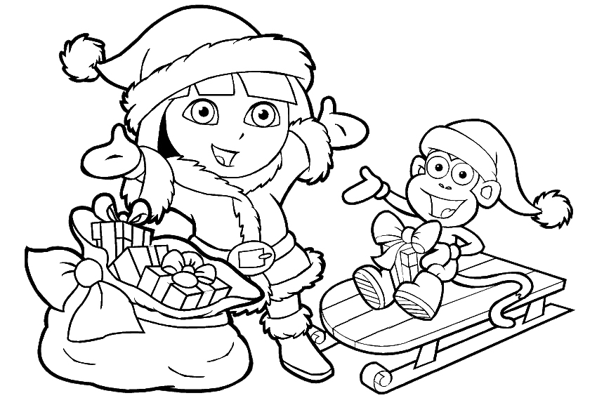 kids coloring pages and dora - photo#33