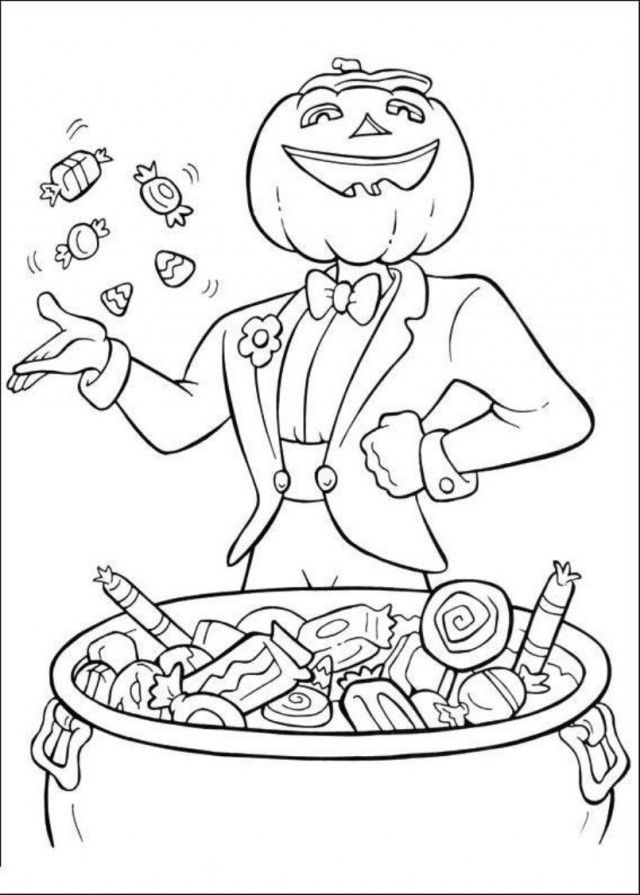 Hard Halloween Coloring Pages - Coloring Home