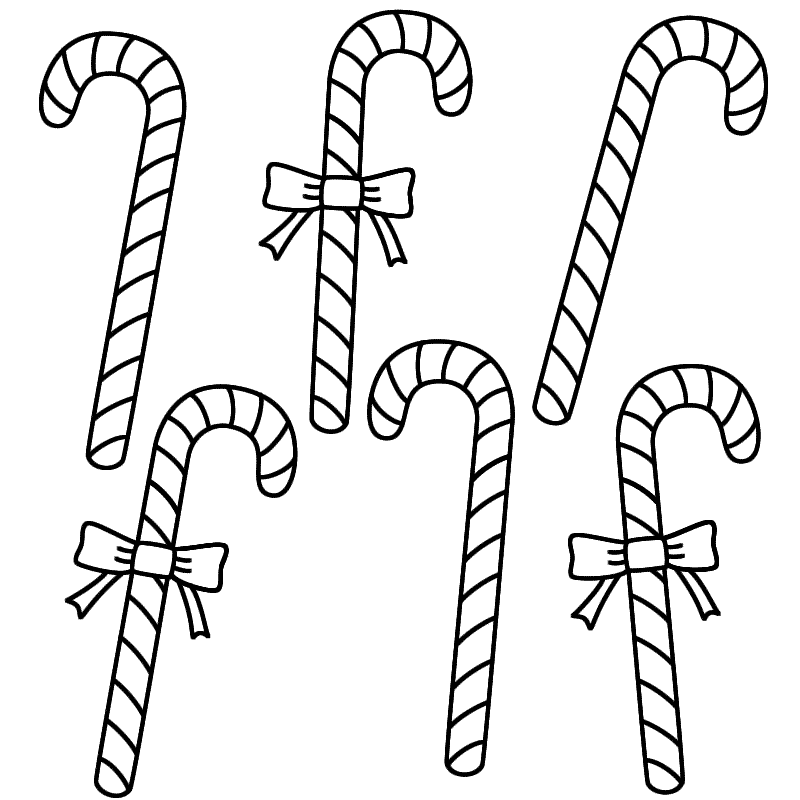 Candy Cane Coloring Sheet