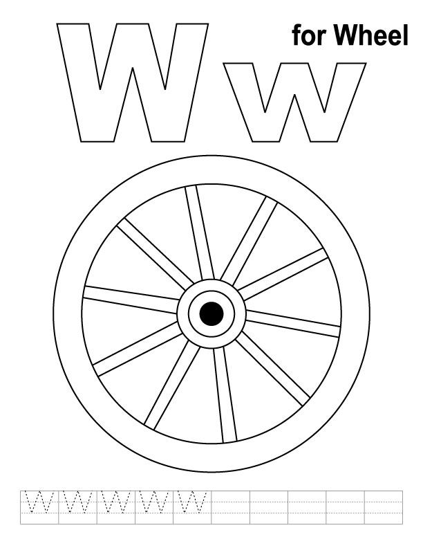 Color Wheel Coloring Page Weels Colouring Pages