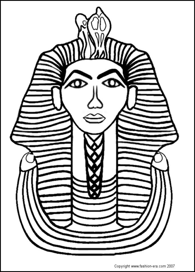 free coloring pages king tut - photo#2
