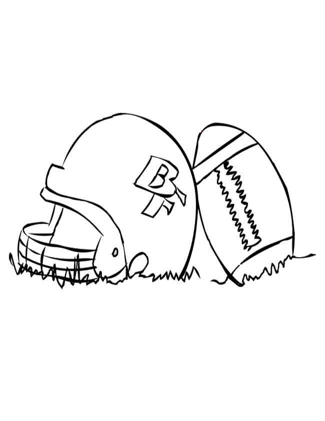 Football Helmet Patriots New England Coloring Page For Kids