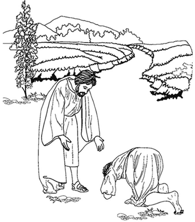 Ten Lepers Coloring Page - Coloring Home