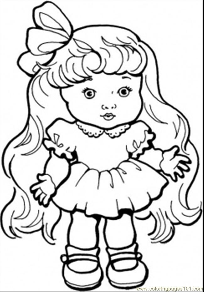 coloring pages baby girl with long hair peoples gender free