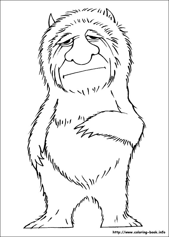 Where the wild things are coloring page az coloring pages for Where the wild things are coloring page