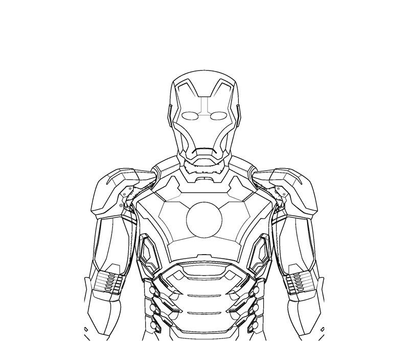Ironman Coloring Pages For Kids