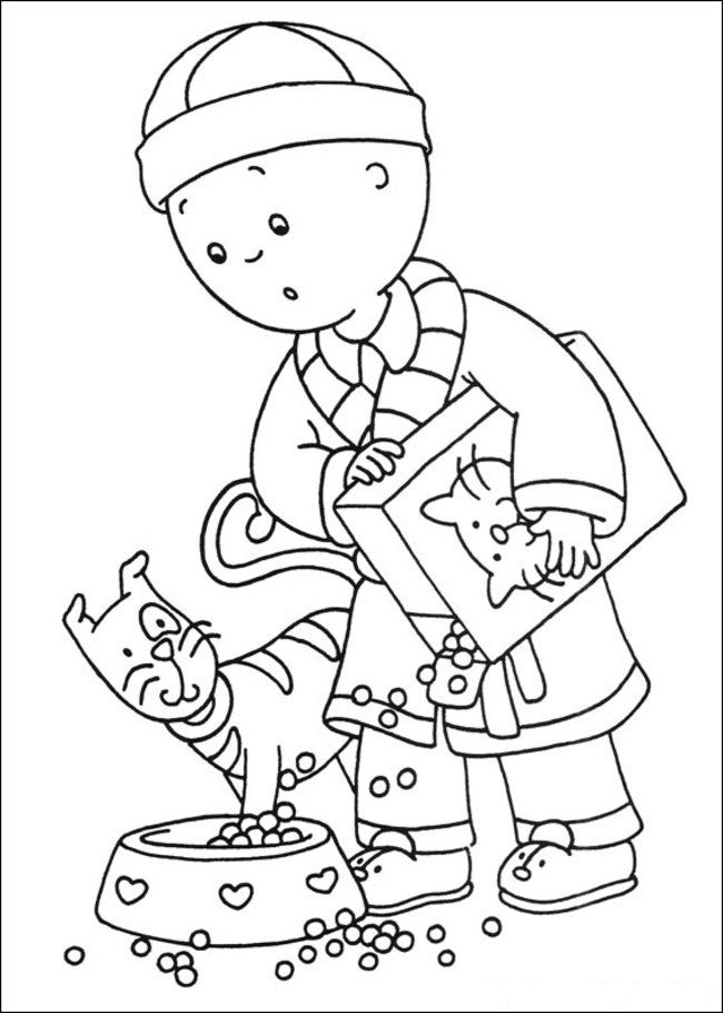 Caillou coloring page coloring home for Caillou printable coloring pages