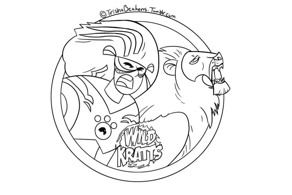 printable wild kratts coloring pages 2 coloring pages for