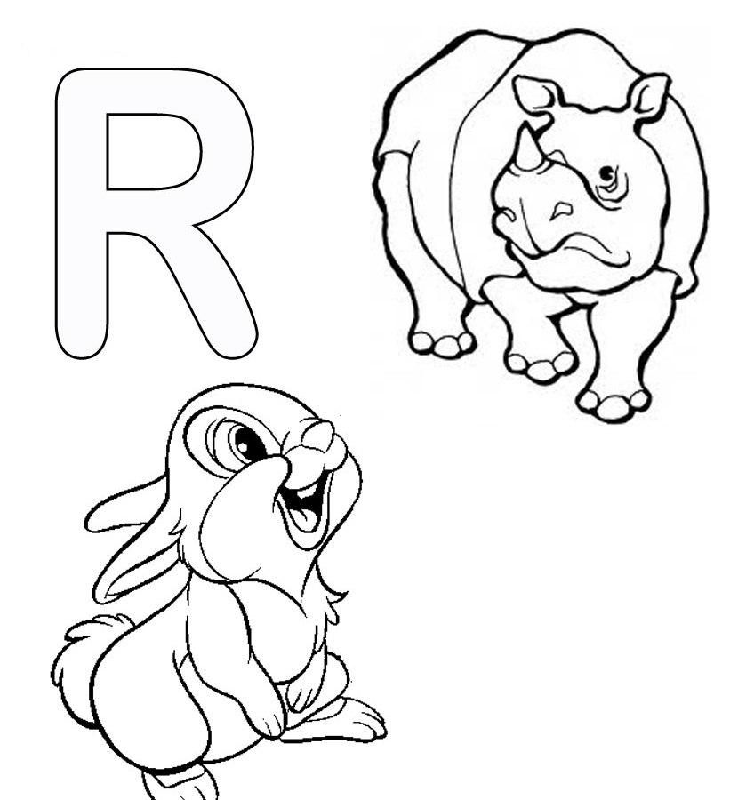 Animal Alphabet Letter U Coloring Pages