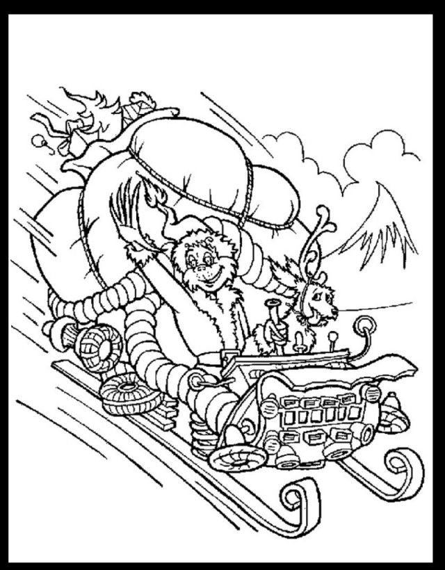 free printable coloring pages grinch stole christmas   How The Grinch Stole Christmas Coloring Pages - Coloring Home