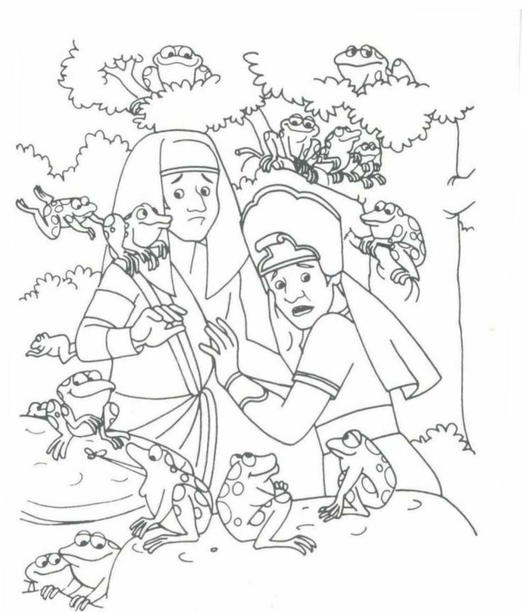 Free coloring pages of ten plagues