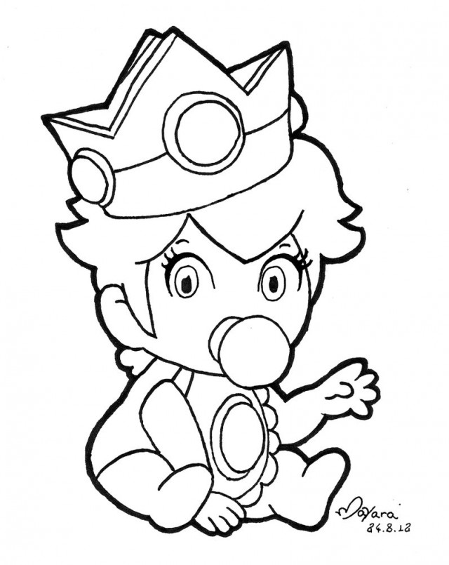 Baby Princess Peach Coloring Pages - 79.2KB