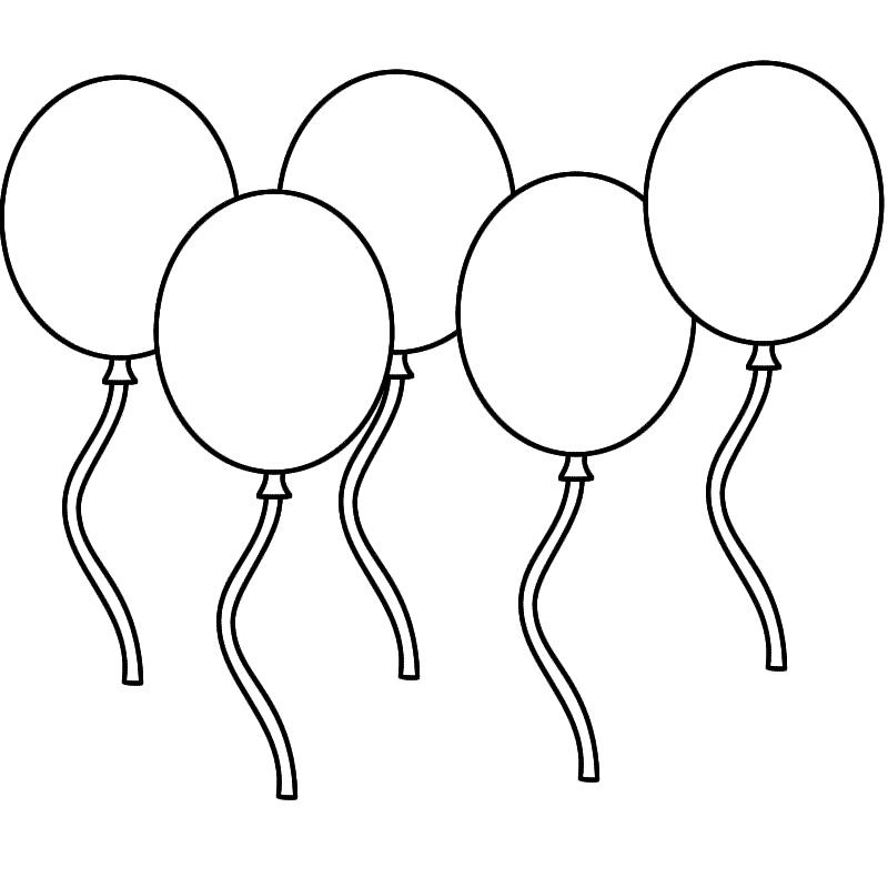Pictures Of Balloons To Color  Coloring Home