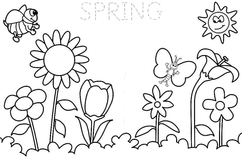 - Spring Season Coloring Pages Free For Boys & Girls - # - Coloring Home