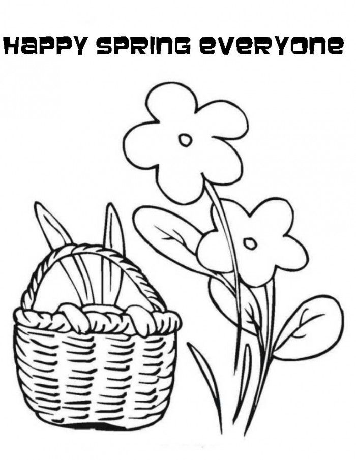happy spring coloring pages - photo#13