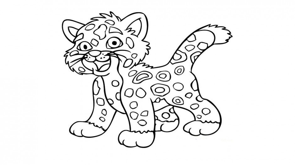 baby cheetah coloring pages - photo#24