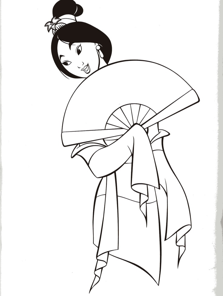 mulan coloring pages free - disney mulan coloring pages az coloring pages