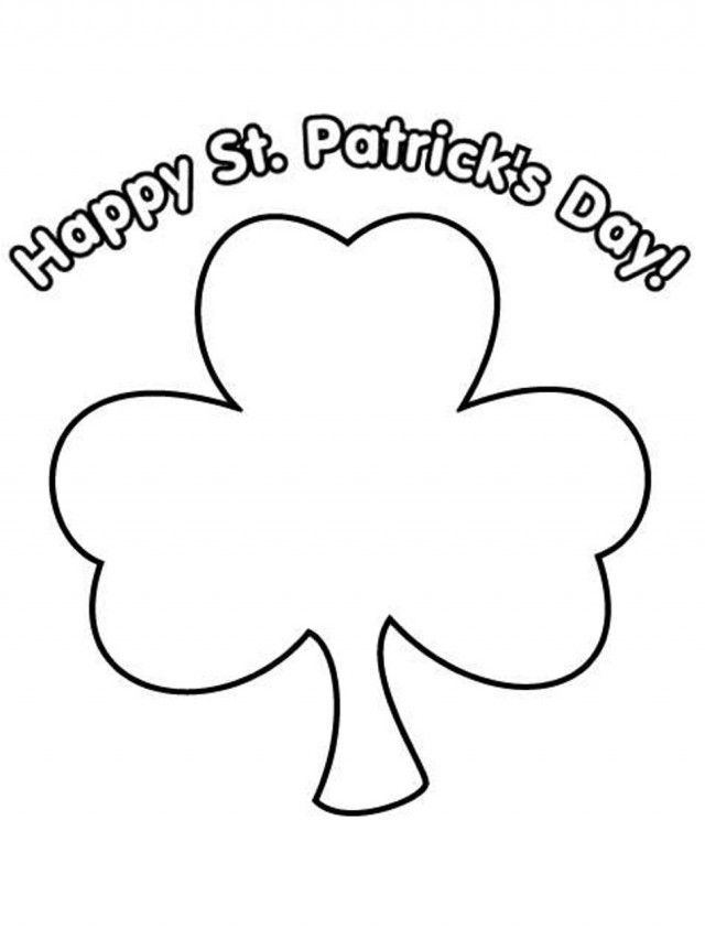 shamrock coloring pages for toddlers - photo#6