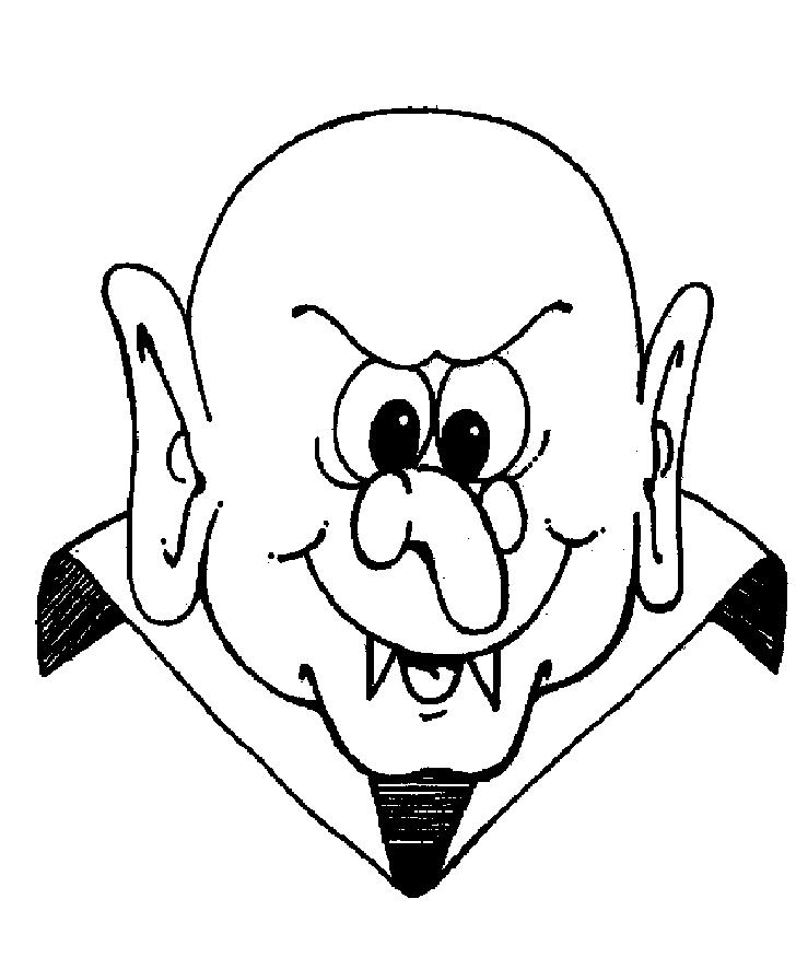 Scary Dracula of Halloween Coloring Pages – Free Halloween