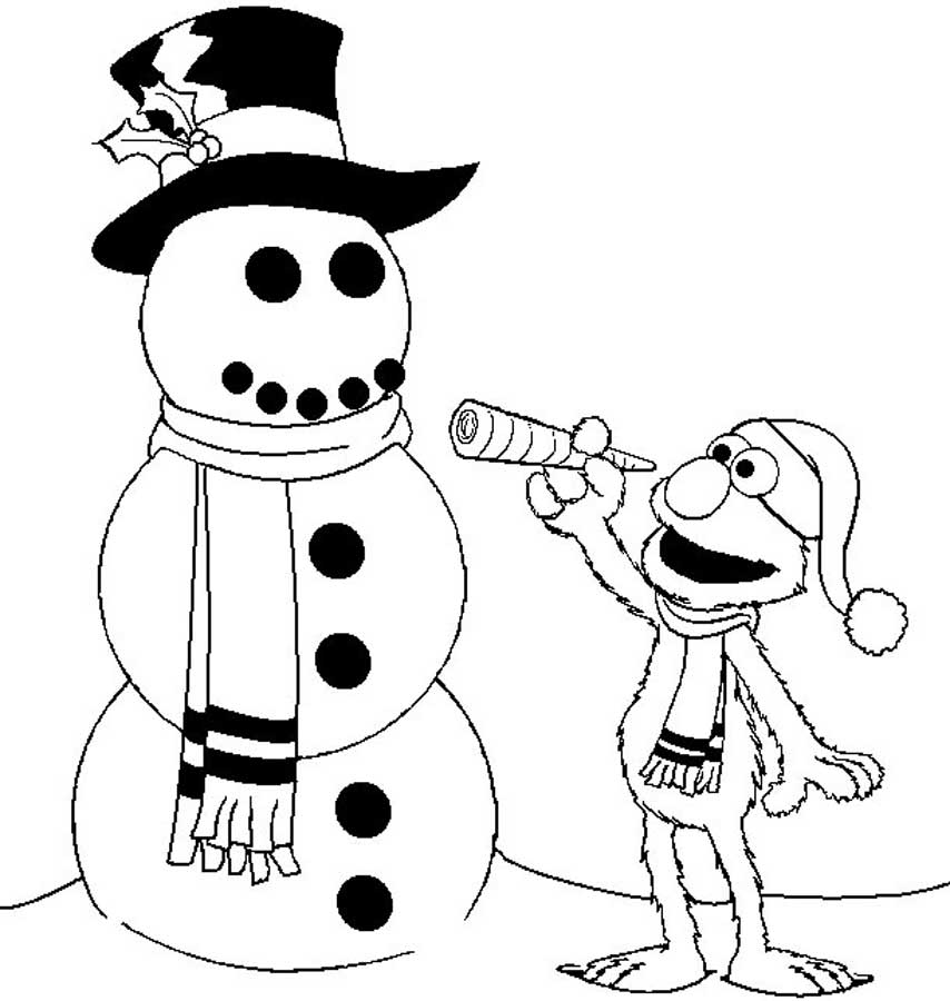 Snowman Coloring Pages For Kids Printable  Coloring Home