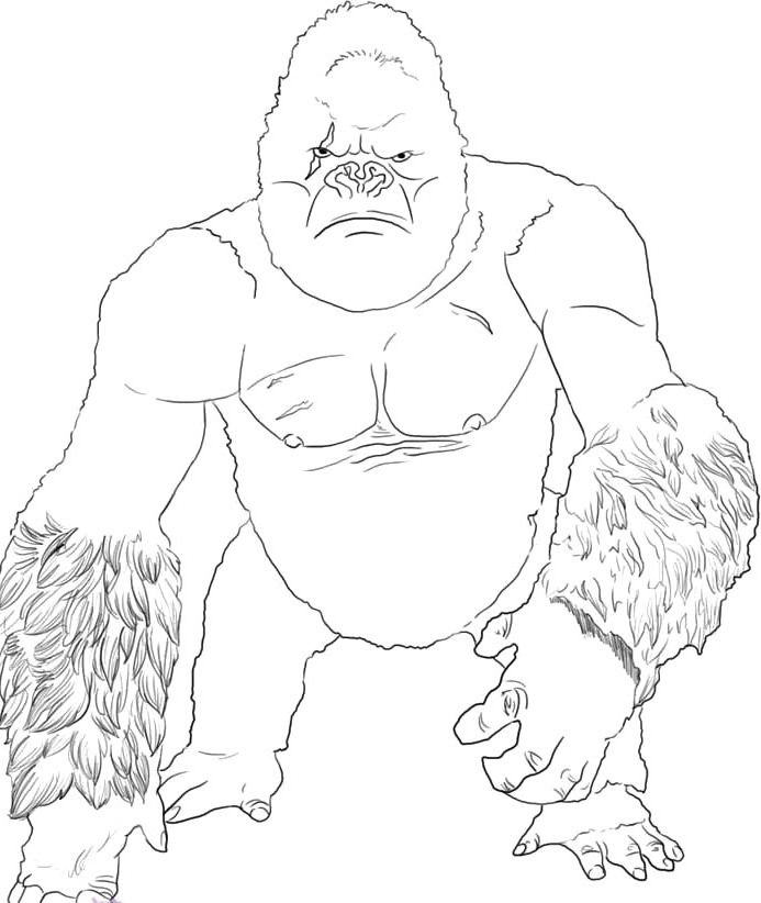free king kong vs godzilla coloring pages