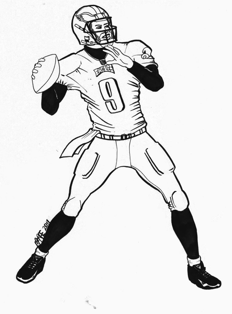 nfl football player coloring pages - photo#22