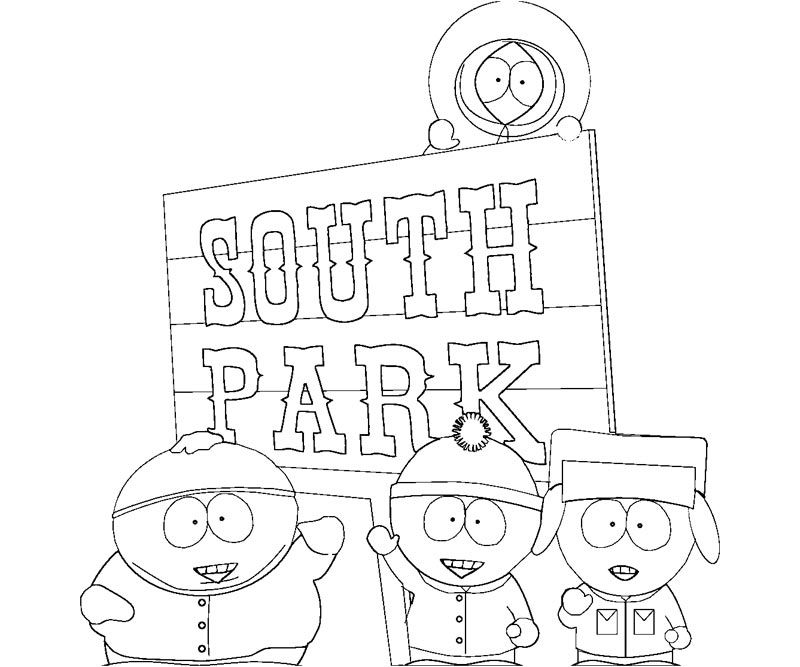 Printable South Park Coloring Pages  Coloring Home