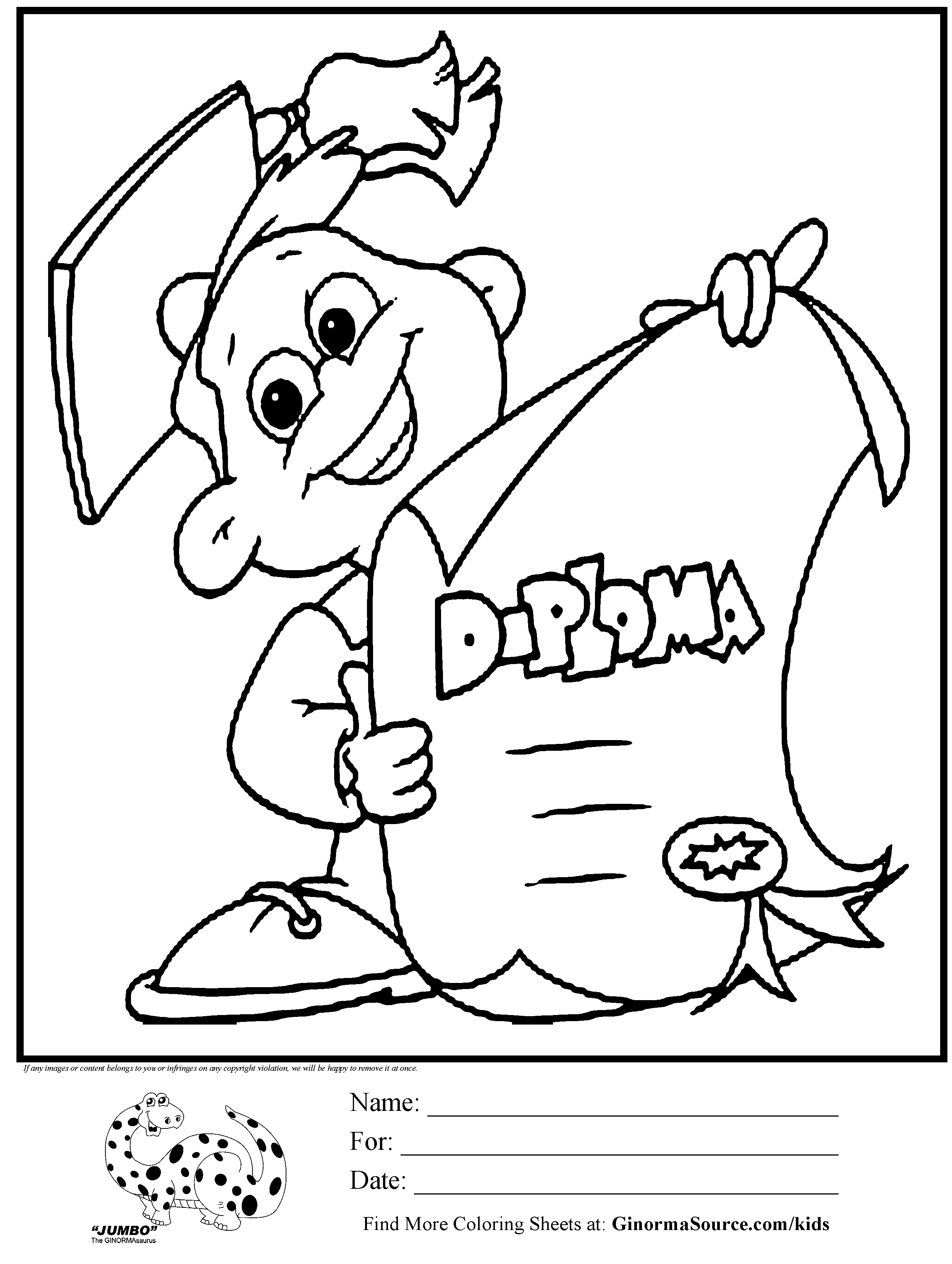 End Of The Year Coloring Pages For Kindergarten : Kindergarten graduation coloring pages az