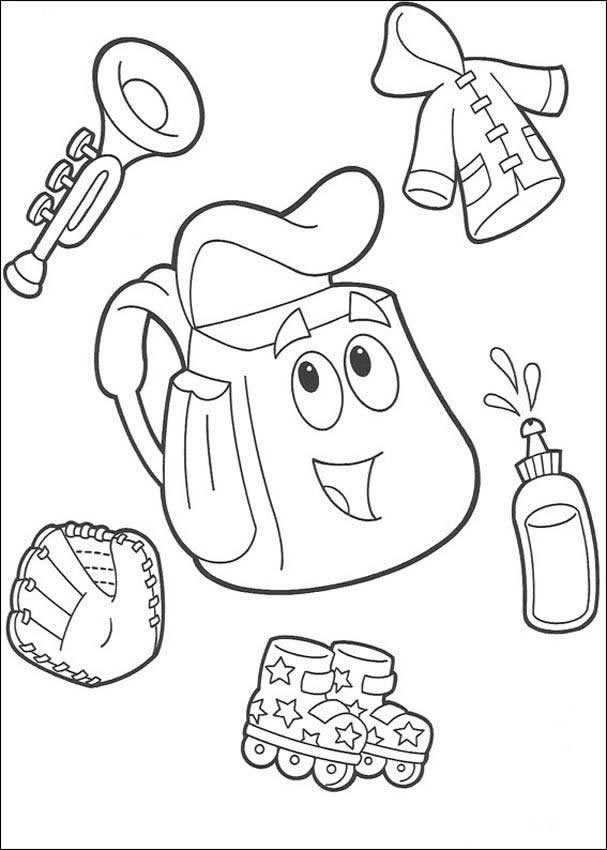 dora backpack coloring pages - photo#17
