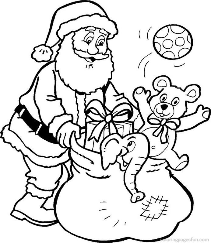 Christmas Coloring Pages Santa - AZ Coloring Pages