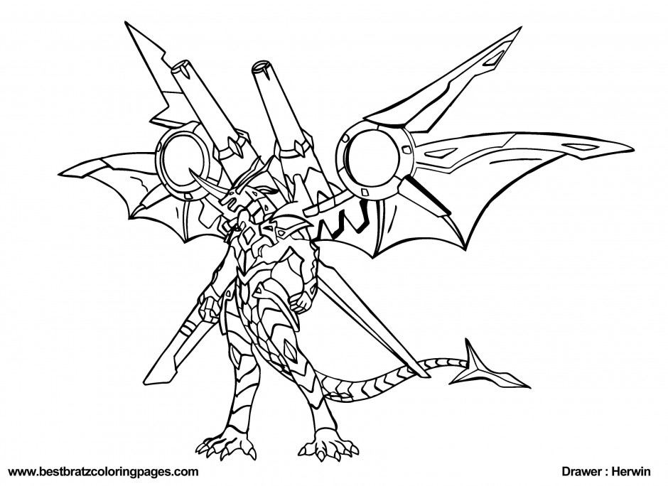 Bakugan Coloring Pages Of Drago