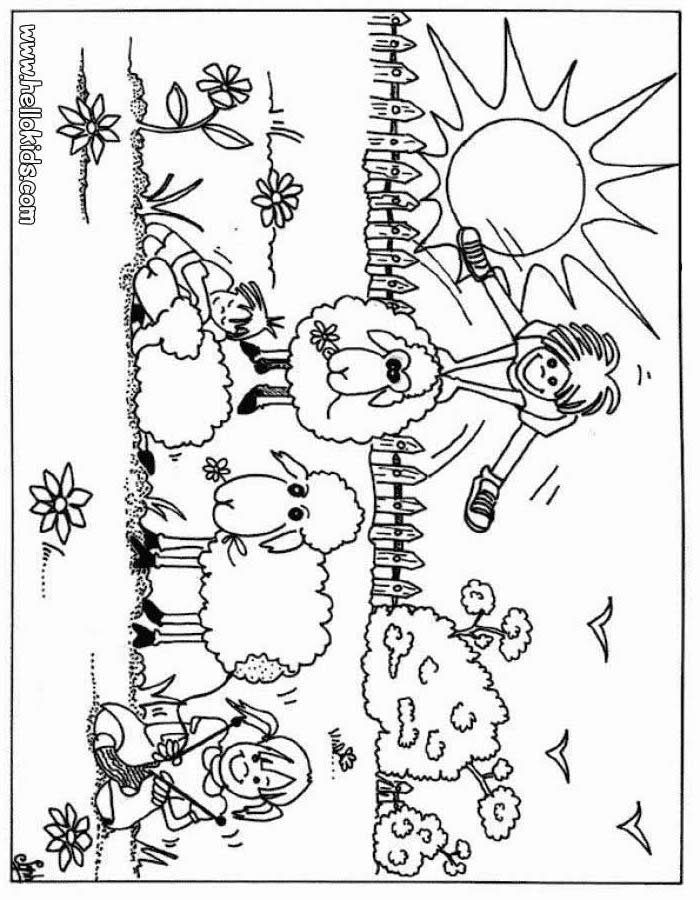 Farm coloring pages for kids coloring home for Farm animal coloring pages