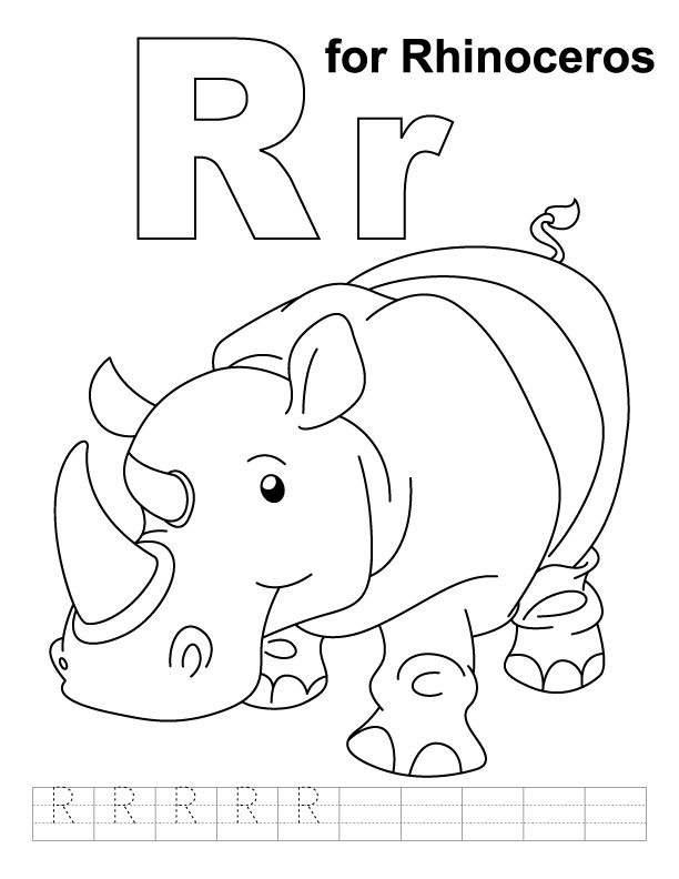 r coloring pages - photo #42