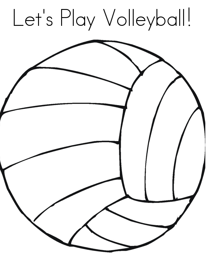 Cartoon volleyball pictures coloring home for Free printable volleyball coloring pages
