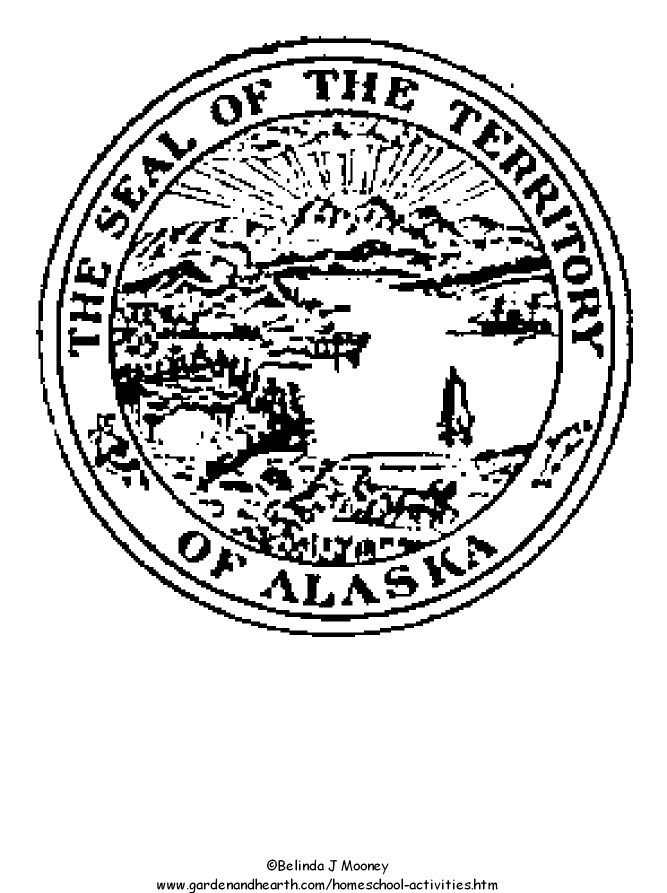 Pics for alaska state seal for Arizona state seal coloring page