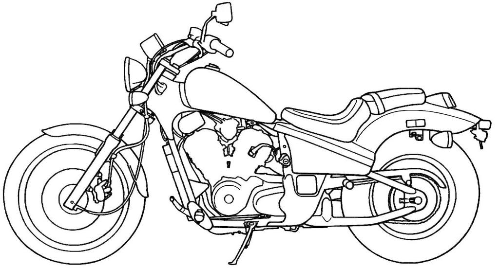 Coloring Pages Of Motorcycles Coloring Home