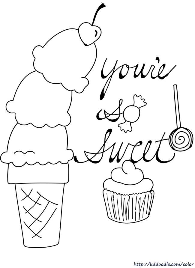 free printable sweet coloring pages - photo#27