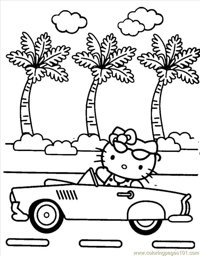 Coloring Pages Hello Kitty09 (Cartoons > Hello Kitty) - free