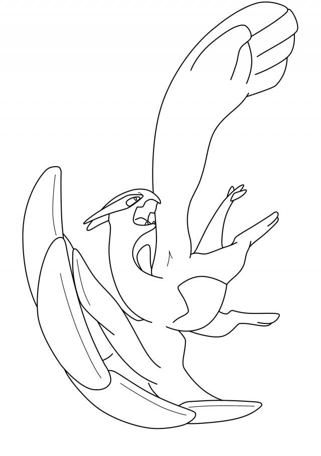 coloring pages lugia - photo#23
