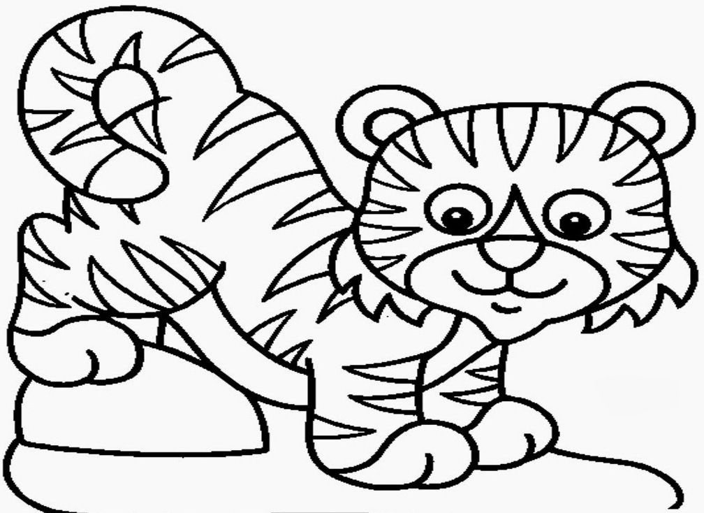 baby tiger coloring pages print - photo#17