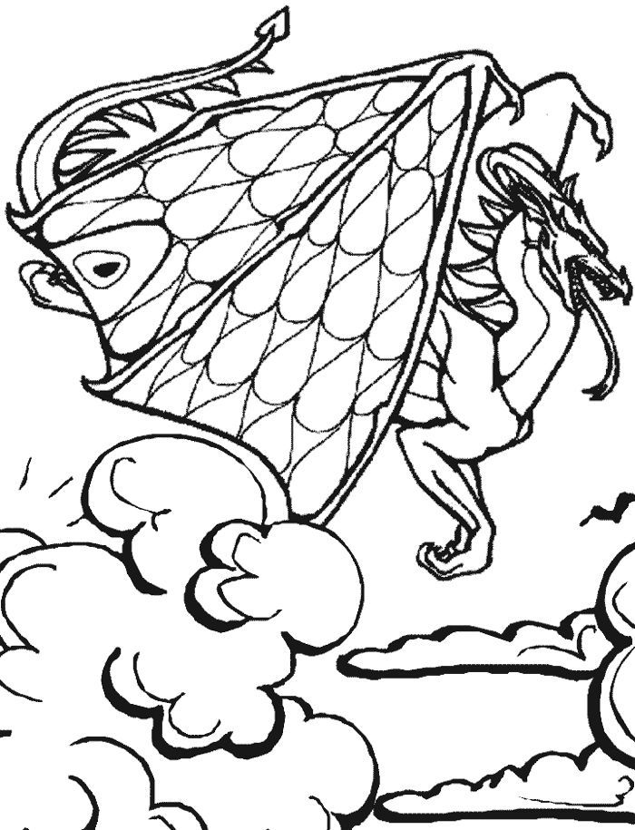 fairy and dragon coloring pages - photo#15