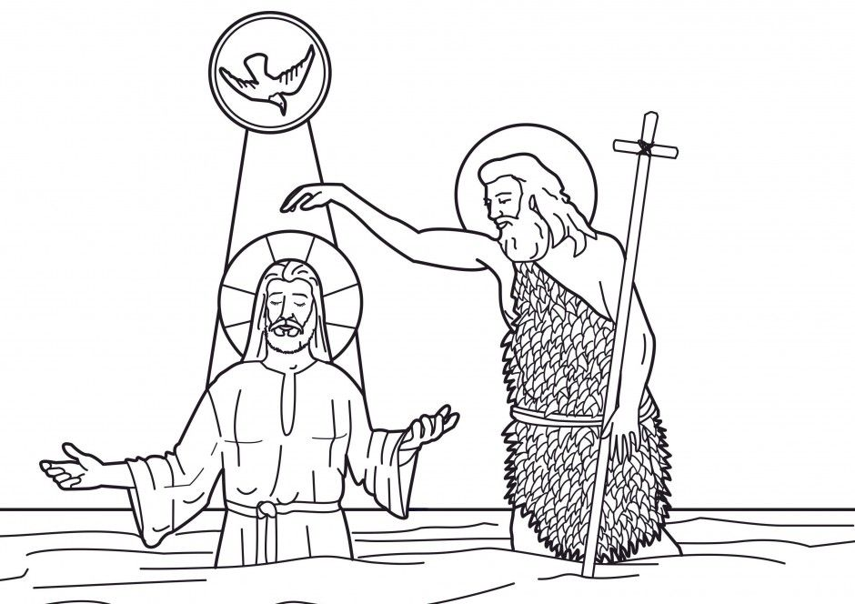 John The Baptist Coloring Page - Coloring Home