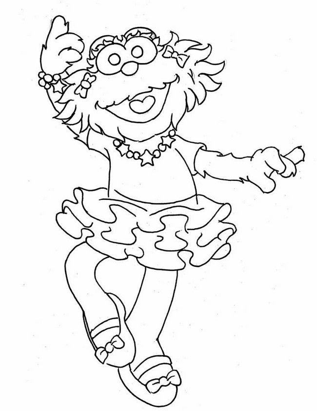 Sesame Street - Free printable Coloring pages for kids | 841x650