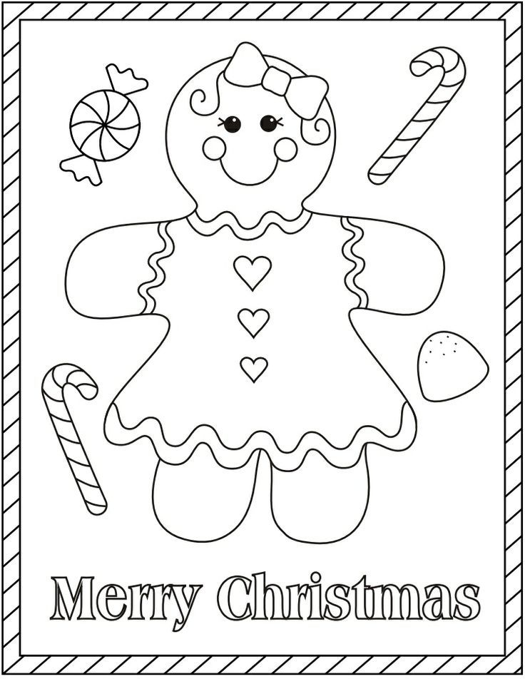 Gingerbread Girl | Christmas Coloring Pages - AZ Coloring Pages