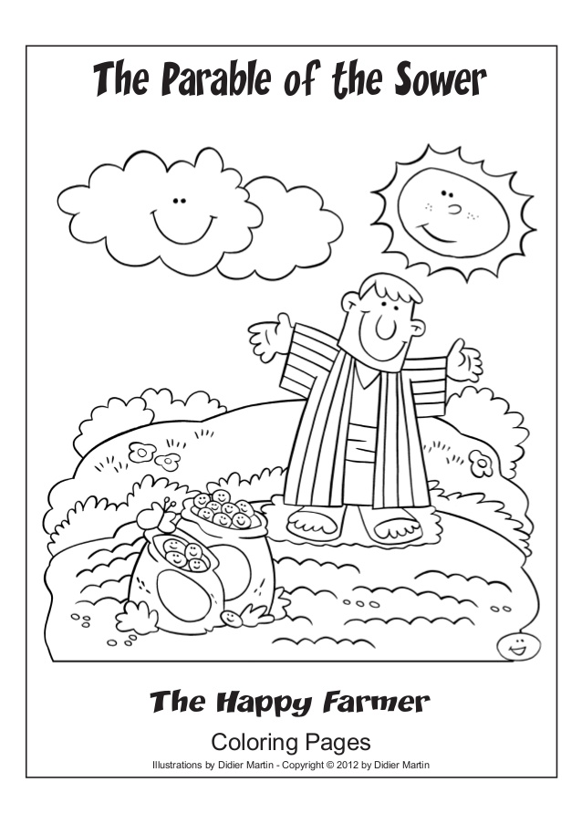 Seed And Sower Coloring Page